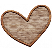 The Good Life: February Elements- Wooden Heart 2
