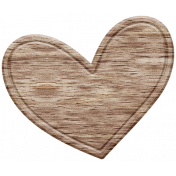The Good Life: February Elements- Wooden Heart 3