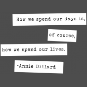 The Good Life: February Words & Tags- Spend Our Days Word Strip