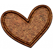 The Good Life: February Elements- chipboard heart 2