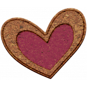 The Good Life: February Elements- chipboard heart