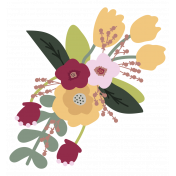 The Good Life: February Elements- flower bouquet sticker