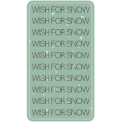 Birds In Snow Elements Kit #2: tag- wish for snow