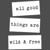 At The Wadi Words & Tags- All Good Things Label