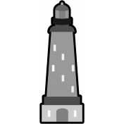 The Good Life: March Beach Add-On - Lighthouse Stamp