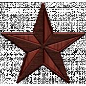 Umbrella Weather- Elements- Wood Star