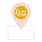 The Good Life: March 2019 Journal Me Kit- we were here template 3x4