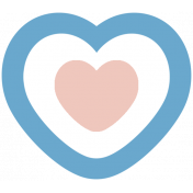 The Good Life- March 2019 Elements- Sticker Heart 2