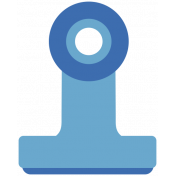 The Good Life- March 2019 Elements- Sticker Clip Blue