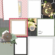 Flower Power Quick Pages Kit- Page 01