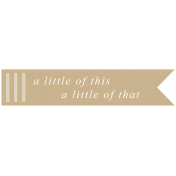 The Good Life: May 2019 Words & Tags Kit- a little of this