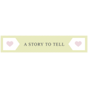 The Good Life: June 2019 Words & Tags Kit- a story to tell label