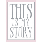 The Good Life: June 2019 Words & Tags Kit- this is my story