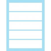 Journal Card Templates Kit #2- g 3x4