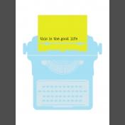 Journal Card Templates Kit #2- P 3x4