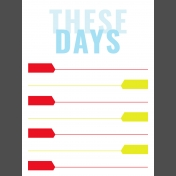 Journal Card Templates Kit #2- T 3x4