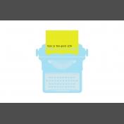 Journal Card Templates Kit #2- p 4x6