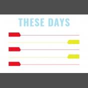 Journal Card Templates Kit #2- t 4x6