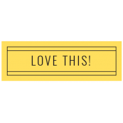 Challenged Words & Tags Kit: Label- love this