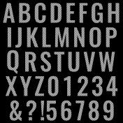 Alpha Template Kit #18- Striped Alpha
