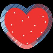 Americana Elements- Print Heart 2
