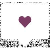 The Good Life: September 2019 Words & Labels Kit - label heart