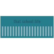 The Good Life: September 2019 Words & Labels Kit- label that school life
