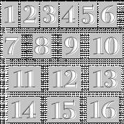Alpha Template Kit #39: Alpha 39 Template Numbers 1-16