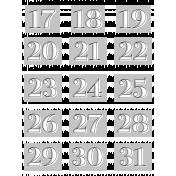 Alpha Template Kit #39: Alpha 39 Template Numbers 17-31