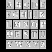 Alpha Template Kit #39: Alpha 39 Letters Template