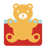 The Good Life: October 2019 Words & Labels Kit- teddy bear
