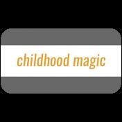 October 31 Words & Labels Kit: label childhood magic