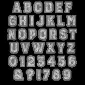 Alpha Template #41- Chalk Alpha Template 40