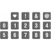 Alpha Template Kit #42- Square Plastic Numbers Template