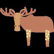 The Good Life: November 2019 Tags & Stickers Kit- moose