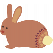 The Good Life: November 2019 Tags & Stickers Kit- rabbit