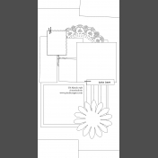 Travelers Notebook Layout Templates Kit #2: Sketch 2b