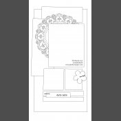 Travelers Notebook Layout Templates Kit #2: Sketch 2a