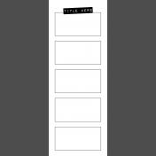 Journal Templates Kit #1: Journal Template 5- 3x8