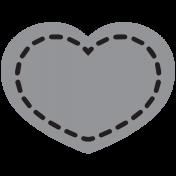 Templates Grab Bag Kit #28- Shape heart 1