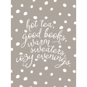 The Good Life: November 2019 Pocket Cards Kit- cozy list 3x4