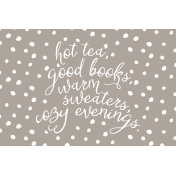The Good Life: November 2019 Pocket Cards Kit- cozy list 4x6