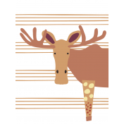 The Good Life: November 2019 Pocket Cards Kit- moose 3x4