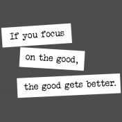 The Good Life- November 2019 Words & Tags- Word Strip Focus On The Good