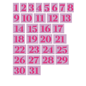 The Good Life- December 2019 Numbers (1-31) Kit- Purple