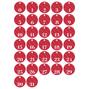 The Good Life - December 2019 Numbers (1-31) Kit - Red
