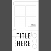 Travelers Notebook Layout Templates Kit #4- c sketch