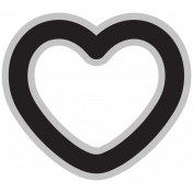 Templates Grab Bag Kit #29 Shapes- heart
