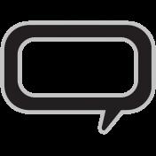 Templates Grab Bag Kit #29 Shapes- talk bubble
