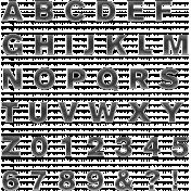 Alpha Template Kit #48 - Alpha Template 48 Enamel